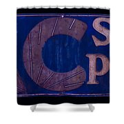 Antique Ac Spark Plug Sign Shower Curtain
