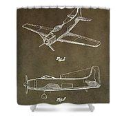 Antique Airplane Patent Shower Curtain