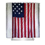 Antique American Flag Shower Curtain