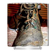 Antique Boots Shower Curtain