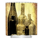 Antique Bottles From The Past Shower Curtain