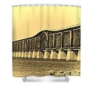 Antique Bridge Shower Curtain