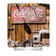 Antique Building At The Techatticup Gold Mine Shower Curtain