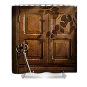 Antique Cabinet Shower Curtain by Amanda Elwell