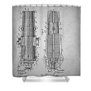 Antique Cannon Patent 1897 Shower Curtain