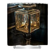Antique Carriage Lamp Shower Curtain