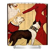 Antique Chicago Dog Show Poster Shower Curtain