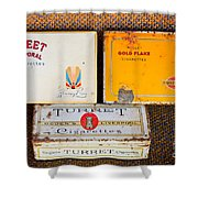 Antique Cigarette Boxes Shower Curtain
