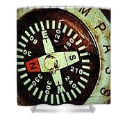 Antique Compass Shower Curtain