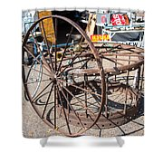 Fayetteville Texas Rings And Wheels Shower Curtain