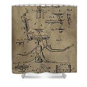 Antique Dental Chair Patent Shower Curtain