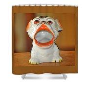 Antique Dog Ashtray Shower Curtain
