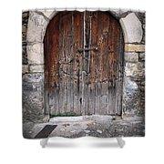 Antique Door Wood Shower Curtain