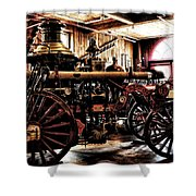 Antique Fire Engine Shower Curtain