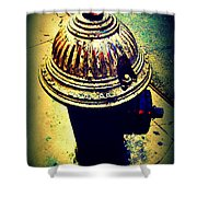 Antique Vintage Fire Hydrant - Multi-colored Shower Curtain