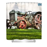 Antique Fordson Tractor - Americana Shower Curtain by Gary Heller