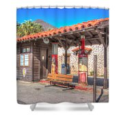 Antique Gas Station Shower Curtain