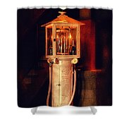 Antique Gasoline Pump Shower Curtain