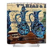 Antique Glass Shower Curtain