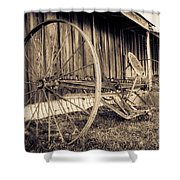 Antique Hay Rake Shower Curtain
