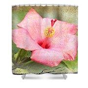 Antique Hibiscus Shower Curtain