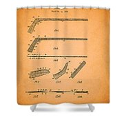 Antique Hockey Stick Patent 1935 Shower Curtain