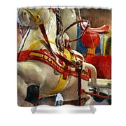 Antique Horse Cart Shower Curtain by Michelle Calkins