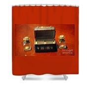 Antique Inkwells 3 Shower Curtain