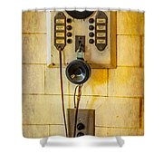 Antique Intercom Shower Curtain
