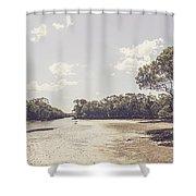 Antique Mangrove Landscape Shower Curtain