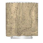Antique Manhattan Map Shower Curtain