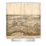 Antique Map Of New Braunfels Texas 1881 Shower Curtain