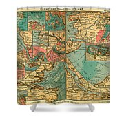 Antique Map Of The Baltic And North Sea Ports  Shower Curtain