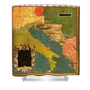 Antique Map Of The Dalmatian Shore 1578 Shower Curtain