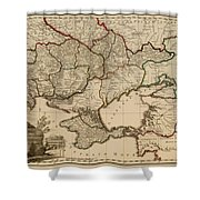 Antique Map Of The Russian Empire In Russian 1800 Shower Curtain
