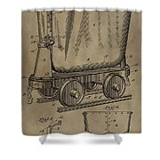Antique Mining Trolley Patent Shower Curtain