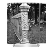Antique Ornate Post Shower Curtain