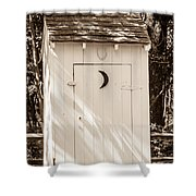 Antique Outhouse Shower Curtain