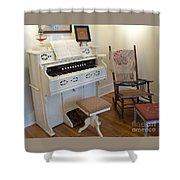 Antique Parlor Organ Shower Curtain