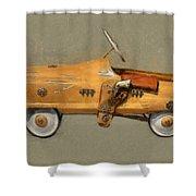 Antique Pedal Car L Shower Curtain by Michelle Calkins