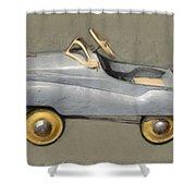 Antique Pedal Car Ll Shower Curtain by Michelle Calkins