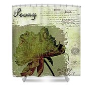 Antique Peony Shower Curtain
