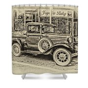Antique Pickup Truck Shower Curtain