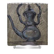Antique Pitcher Shower Curtain by Kathy Weidner