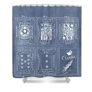Antique Playing Cards Shower Curtain