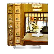 Antique Post Office Letter Boxes At The Boardwalk Plaza In Rehoboth Beach Delaware Shower Curtain