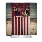 Antique Punch And Judy Shower Curtain