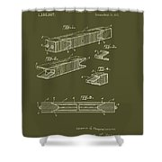 Antique Railroad Tie Patent 1915 Shower Curtain