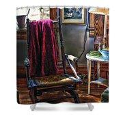 Antique Rocking Chair Shower Curtain