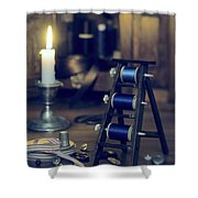 Antique Sewing Items Shower Curtain by Amanda Elwell